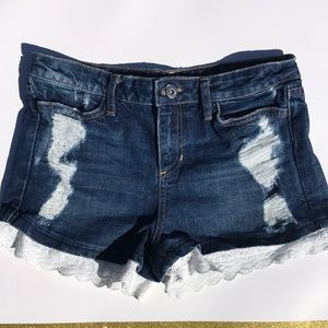 The man repeller x PJK denim short